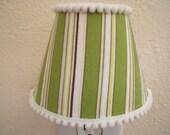 Green Striped Night Light