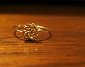 Wrapped Rose 14K Gold Ring All Sizes