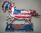 """Original Abstract Painting Custom Painted Ponies Modern Contemporary Art Horse """"LAND of  The  FREE"""" by J.LEIGH"""