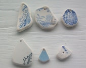 Scottish Beach Pottery Supplies - Drilled Beach Pottery Pendants (211)