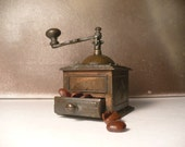 Old Fashioned Rustic Coffee Grinder Miniature- Made in Spain