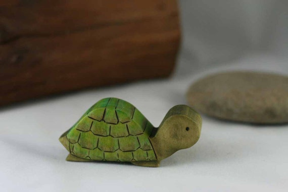 Turtle Wooden Toy -  Nature Table - Waldorf Animal