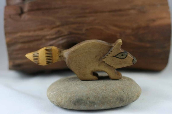Raccoon Wooden Toy - Nature Table - Waldorf Animal