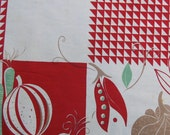 Vintage  tablecloth with Vegetable motif.
