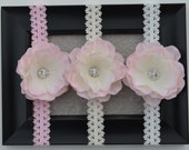 Light Pink Flower with a White Headband