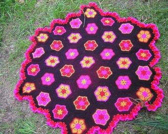 Crochet  flower blanket  / throw