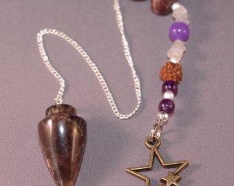 Amethyst and Star Gemstone New Age Dowsing Pendulum Magick 124836P