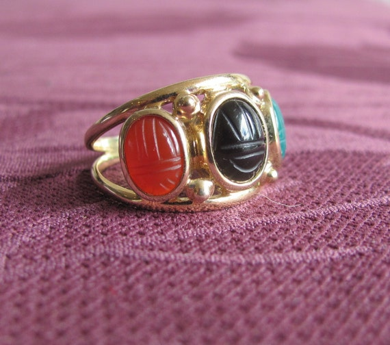 14k Scarab Beetle Ring
