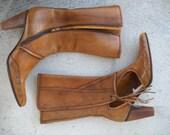 Shoes Diesel Style Lab Original  Vintage Ankle Boots  Leather  Women  sz. 39/9/6