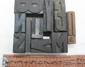 Wooden letter  stamps, sets of 5 pieces letters G R A C E