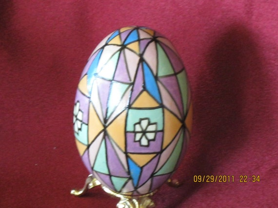 pysanky stainedglass style goose egg