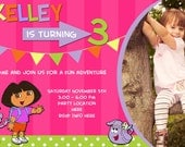 Dora Birthday Party Invite