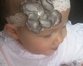 Pretty as a Lady - 0-3 Month Flower Stretch Headband