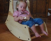 Pair Maple Toddler Rocking Chairs - RESERVED