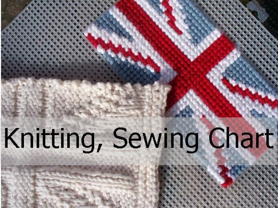 Knitting Pattern For Union Jack : Items similar to 2 Union Jack, British Flag PATTERN charts for knitting, sewi...