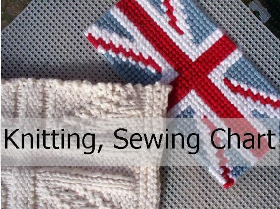 Items similar to 2 Union Jack, British Flag PATTERN charts for knitting, sewi...