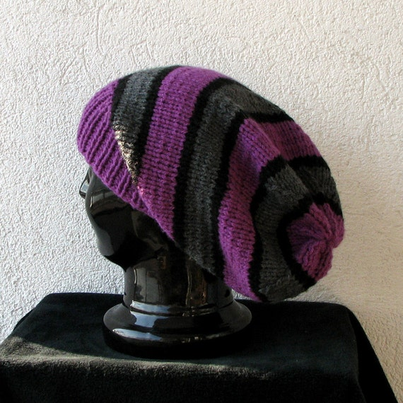 Knitted Oversized Slouchy Beanie Heads Simple slouchy beanie hat  slouchy hat for men or women, baggy knitted hat, unisex