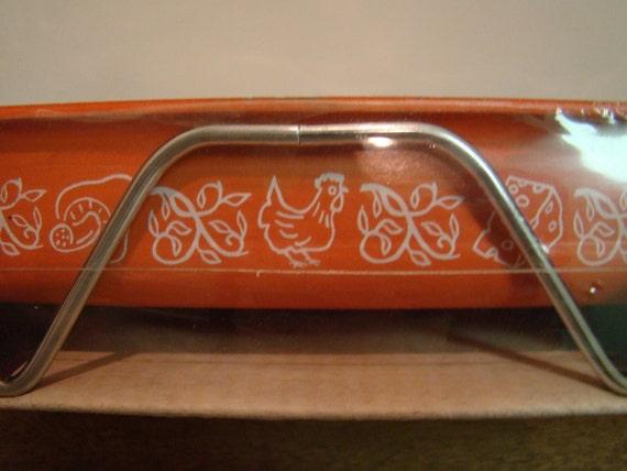 Vintage Orange Chicken Nordic Ware 'For The Bundt People' Lasagna Dish