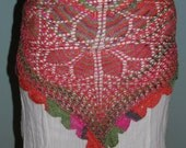 """The """"Primavera"""" Shawl and Belly Dance Hip Scarf, Made to Order"""