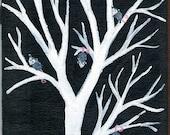 PossumTree - Possum Painting - 5 x 7 - Original Possum Painting