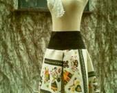 Tablecloth Skirt - Reclaimed Table Cloth Vintage Linen