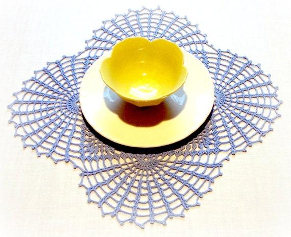 Doily Table Linen  Blue Crochet | Victorian / Home Decor / Tablecloth / Centerpiece