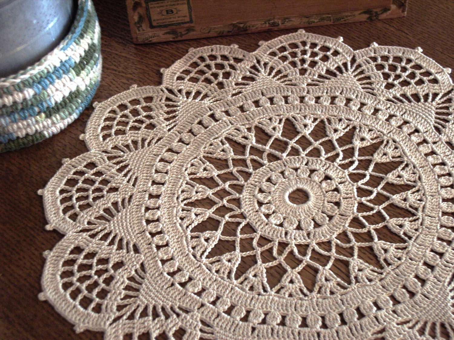 This design (Doily No. 574b)is from Corticelli Lessons in Crochet ...