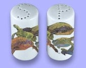 Turtle Salt and Pepper Shakers Ceramic