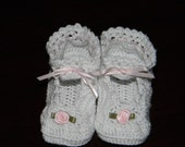 """Baby Booties  """"Little Lady Slippers""""."""