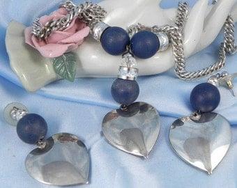 Vintage Hearts Necklace Set
