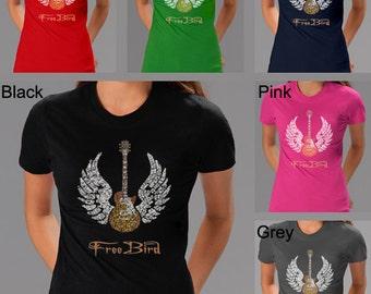 Women's T-shirts - Lyrics To Freebird