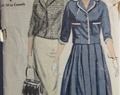 Vintage 1960  Vogue 5029 UNCUT Sewing Pattern Suit (Jacket and Skirt) Size 14 Bust 34 Extremely Rare