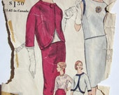 Vintage 1961  Vogue 4202 RARE Sewing Pattern  Suit and Blouse  Size 14 Bust 34 Hip 36