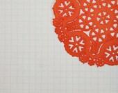 Tangerine Orange Paper Doilies Set of 10-Diy Kit