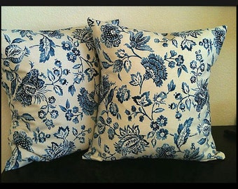 Set of 2 Pillow Covers 16x16 inch- Free Shipping Braemore Textiles Designer Home Decor Fabric