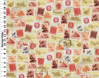 Set of 2 Pillow Covers 18x18-Free Shipping - Postal Stamps