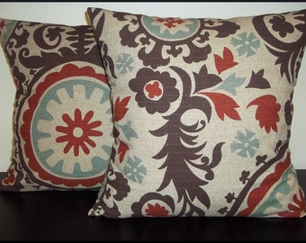 Suzani Nile Denton Home Decor Throw Pillow Cover - FREE US SHIPPING