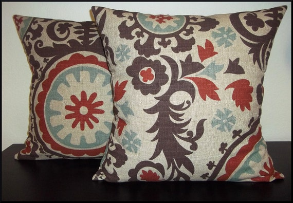 Set of 2 Pillow Covers 16x16 inch -Free Shipping - Suznani Nile Denton Home Decor Throw Pillow Covers