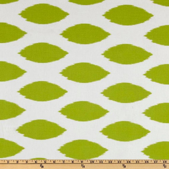 2 Pillow Covers 18x18-Free Shipping - Chartreuse on White Ikat Chipper Throw Pillow Cover