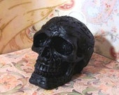 Small Celtic Knot Skull Black Beeswax Candle