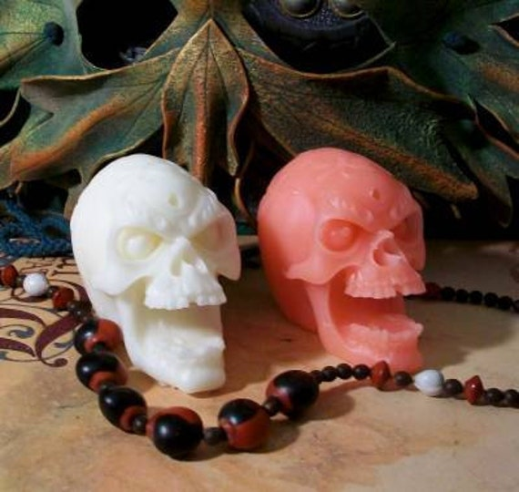 Skull Candle Beeswax Choice Of Color