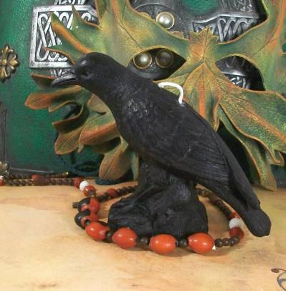 Raven Crow Bird Black Beeswax Candle