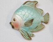 Chalkware Fish Wall Decor Set
