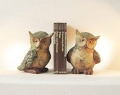 Pair of  Textured Owl Statues/ Bookends