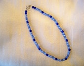 Dark Blue and Light Blue Necklace