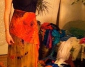 One-of-a-Kind PranaMaker Rainbow Wrap Skirt w/ 2 belts/scarves. Hand Painted & Wrapped by Natalia Hacerola. Rocked by Rae Abileah.