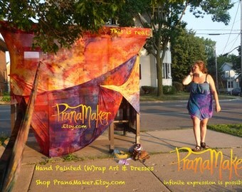 PranaMaker Hand Painted Bus Stop Wraps. Transform Your Public Transportation Station into a Tropical Vacation.