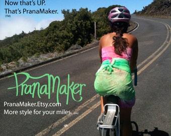 One-of-a-Kind Custom PranaMaker Scarf Wrap Dress. Haleakala Maui. Hand Painted by Natalia Hacerola.