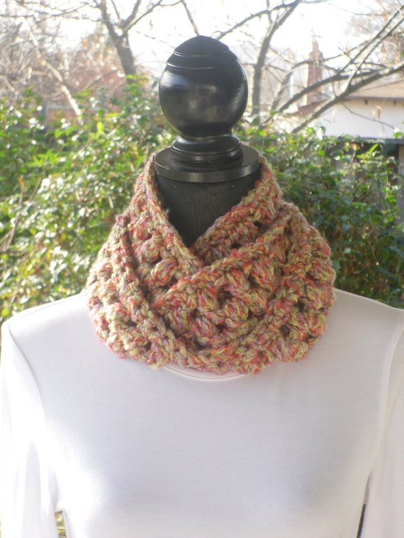 Necklace Skinny Infinity Eternity Cowl Scarf Snapdragon Melon Green Lavender Yellow