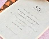 Modern Vintage Wedding Save The Date Cards -Henry